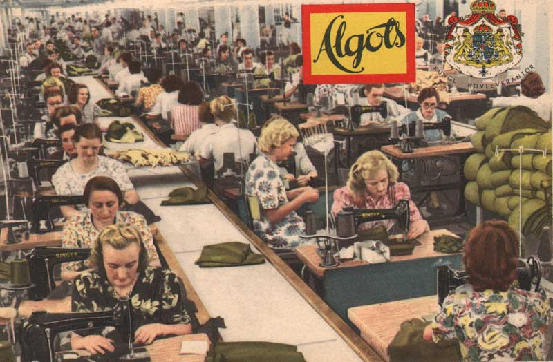 Figure 3: Workers in Algot's garment factory in 1955 (Source: Wikipedia)