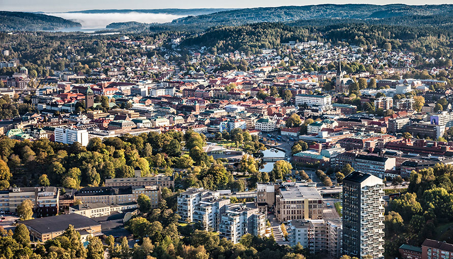 Figure 4: View over Borås (Source: www.boras.se)