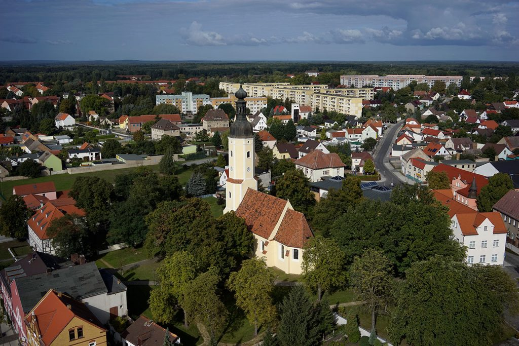 Lauchhammer centre – air view (Photo: City of Lauchhammer)